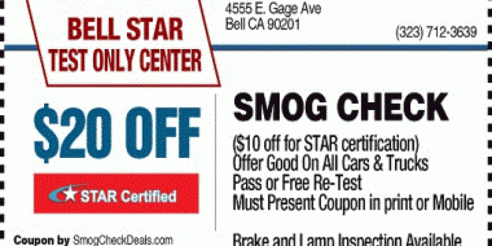 20 Off Smog Check Bell Star Test Only Star Station